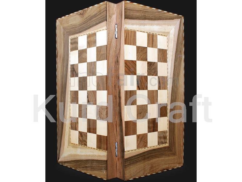 Burl Wooden Backgammon