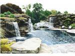 اجرای آبشار صخره ای