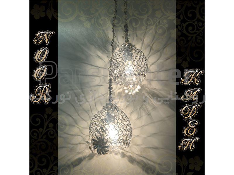 چراغ آویز کندو نقره ا ی