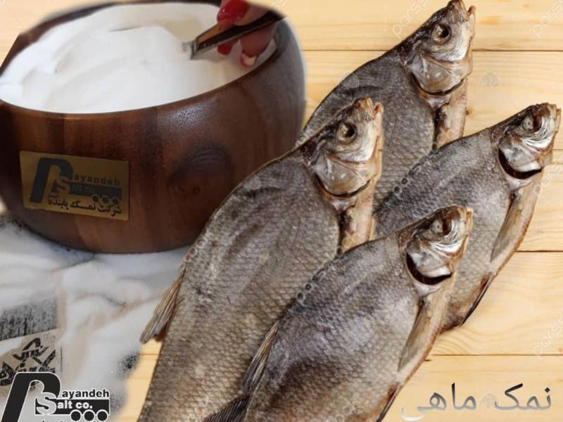 نمک برای  خشک کردن ماهی