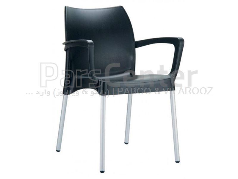 صندلی پلاستیکی مونیکا با پایه آلومینیومی