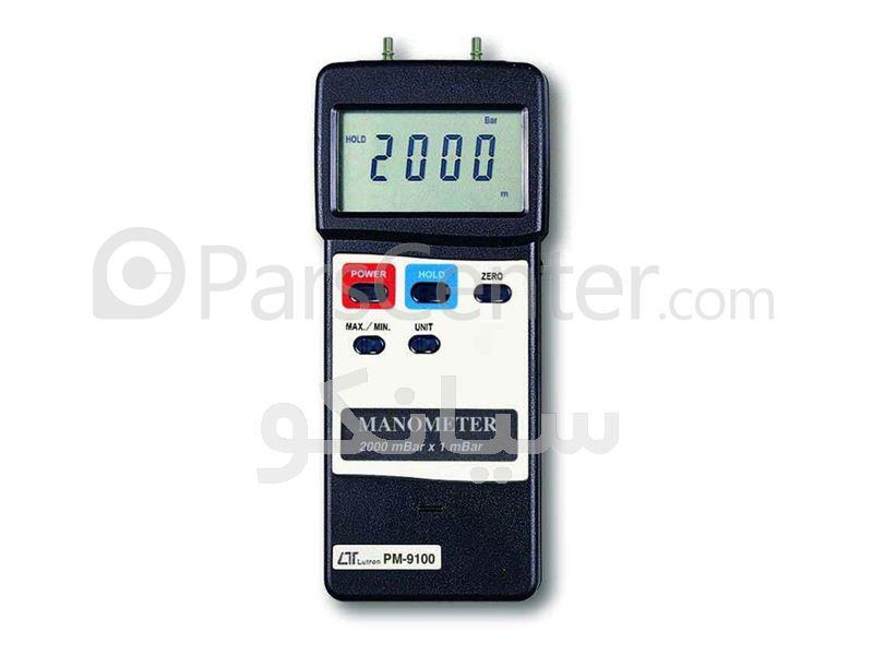 فروش دستگاه مانومتر ، فشارسنج ، بارومتر دیجیتال ارزان قیمت لوترون مدل LUTRON PM9100