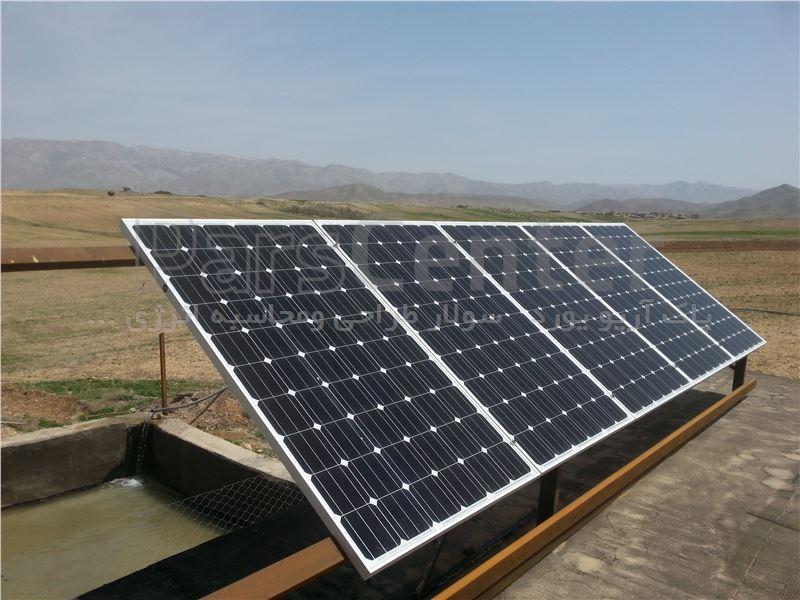 پمپ آب خورشیدی سه فاز(11کیلووات 15اسب بخار) 2/5اینچ 161متر عمق آبدهی 8متر مکعب درساعت(همراه پنل)