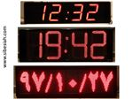 ساعت و تقویم دیجیتال LED سایز 40 در 100 سانتیمتر