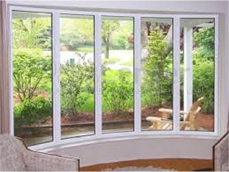 پنجره آلومنیومی کمانی (BOW WINDOW)