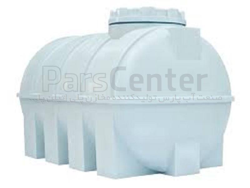 مخزن پلی اتیلن  300 لیتر افقی آب شرب