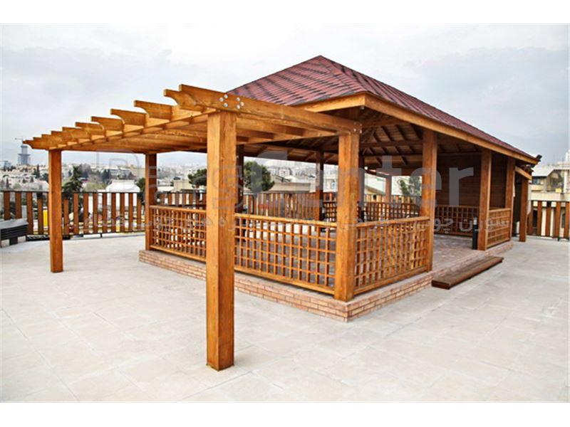 طراحی و ساخت نرده چوبی