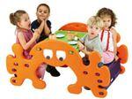 میز و نیمکت و الاکلنگ 4 نفره - محصولات مهد کودک