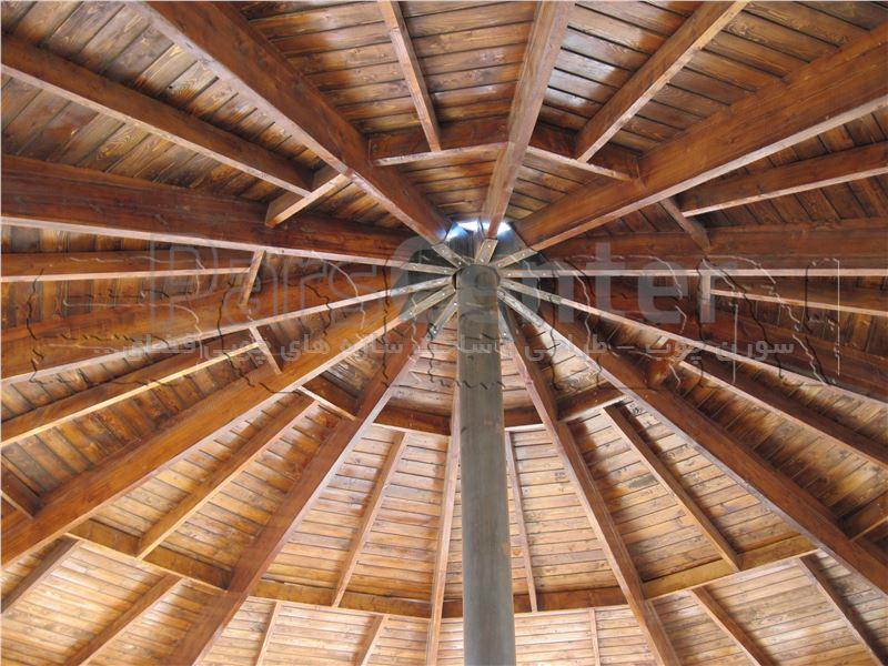 سقف های اجرا شده در آلاچیق های چوبی