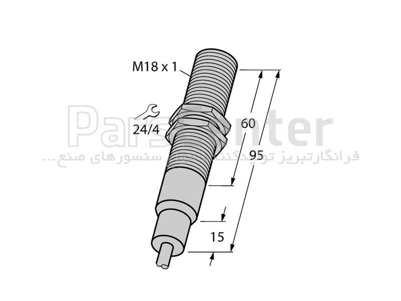سنسورالقایی BI5-EM18-AP6/S907 با مقاومت 180 درجه سانتیگرادساخت شرکت Turck آلمان