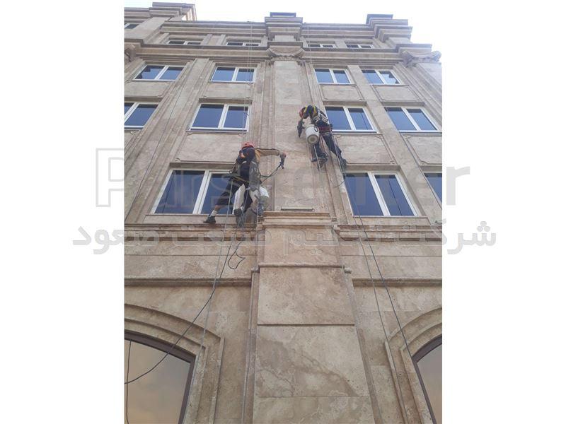 پیچ و رولپلاک سنگ های نمای ساختمان