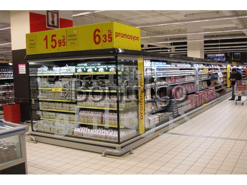 یخچال روباز فروشگاهی،یخچال هایپر مارکت