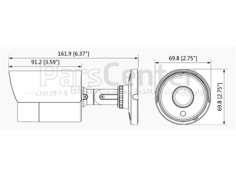دوربین مداربسته داهوا | HD-CVI | بولت | 1 مگاپیکسل | DH-HAC-HFW1100SL