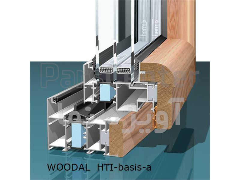 پنجره آلو وود aluminium and wood windows