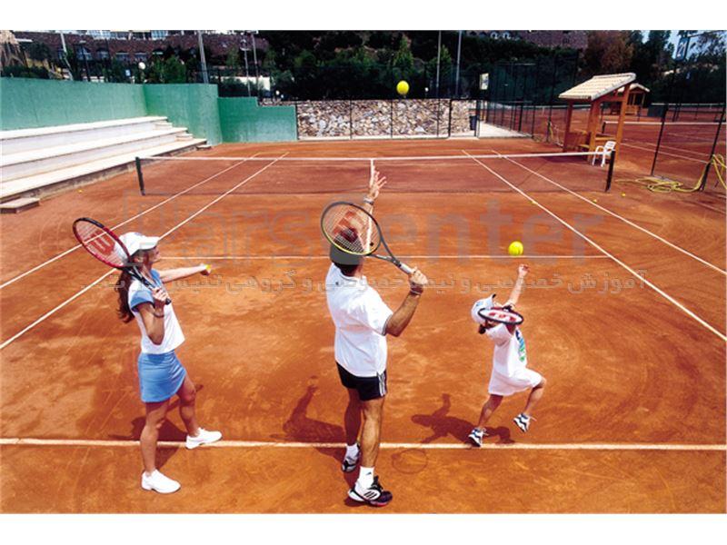 هزینه آموزش تنیس خاکی در تهران برای تمام سنین