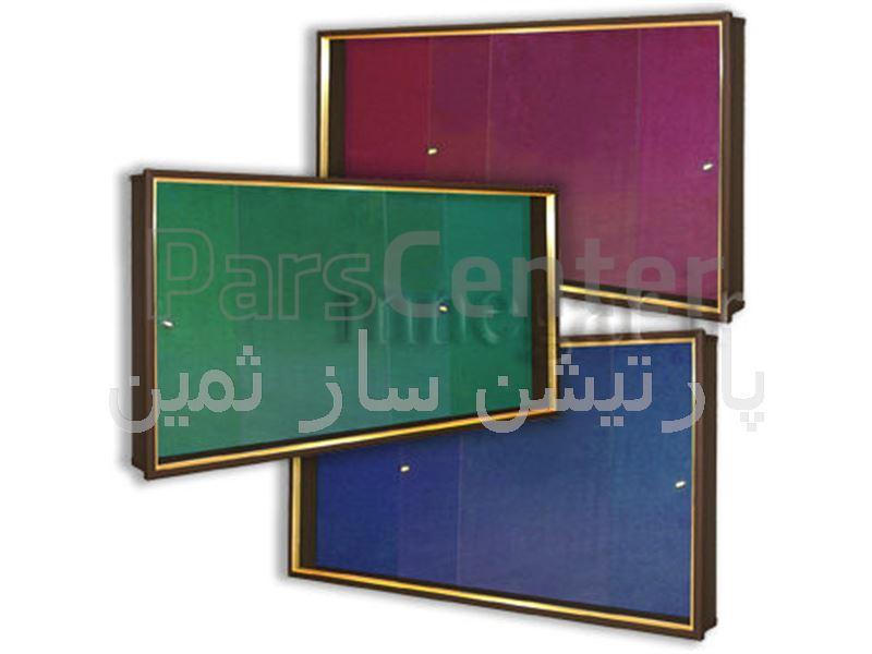 تابلو اعلانات شیشه خور فریم فلزی