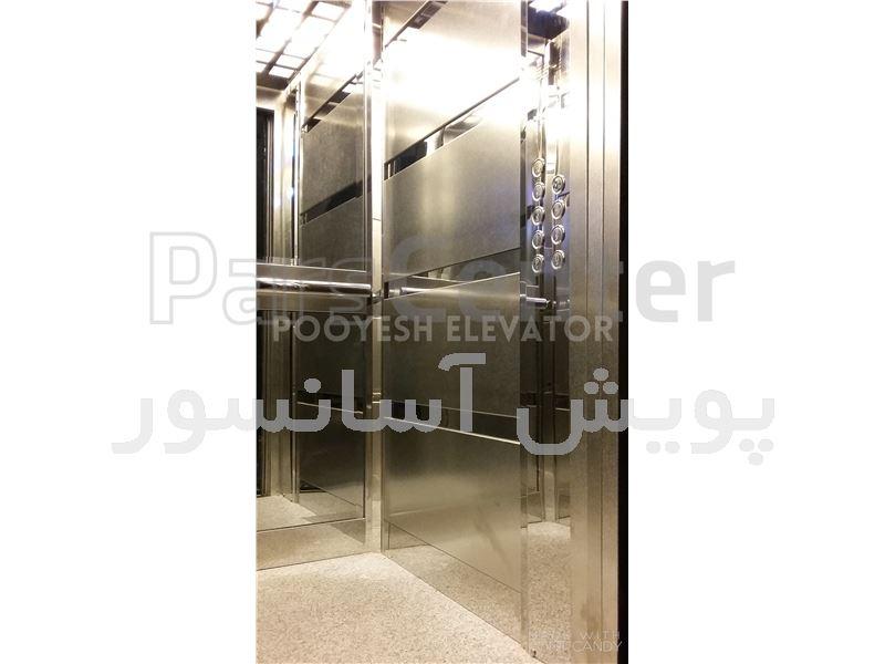 تزئینات کابین آسانسور در محل