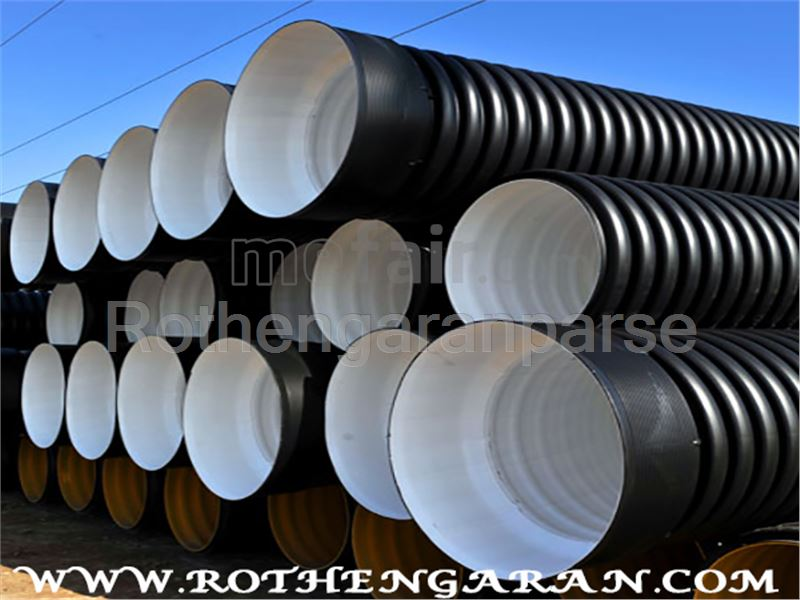 Double wall corrugated polyethylene pipe