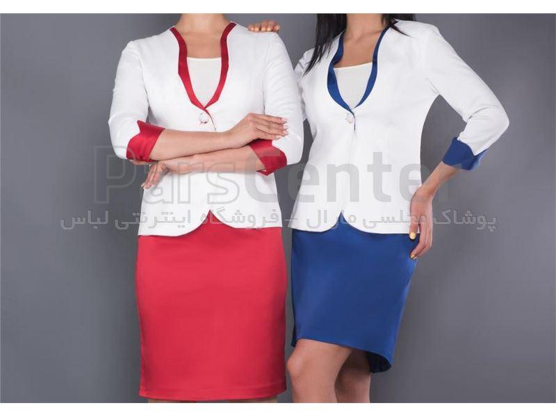 کت دامن یقه گلابی (ساده) سایز 36