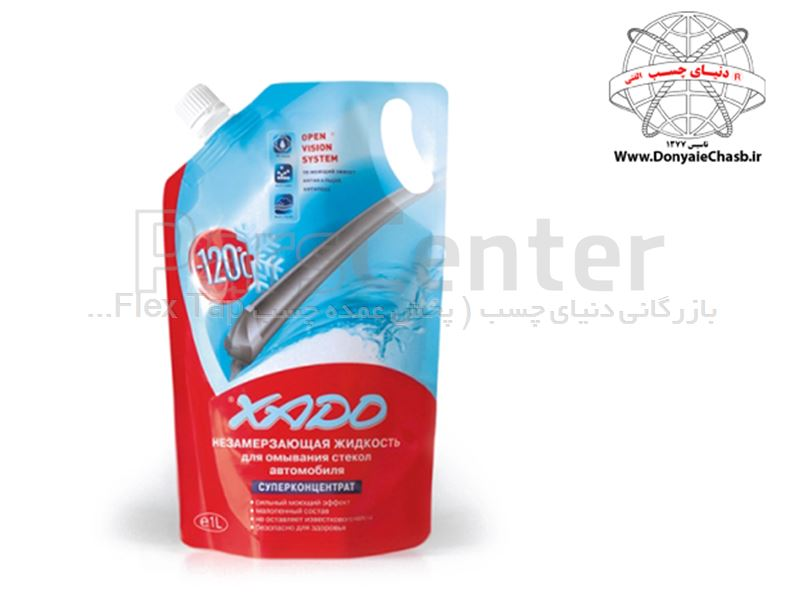 شیشه شوی دارای ضد یخ زادو XADO NON-FREEZOING FLUID FOR CLEANING AUTO GLASS اوکراین