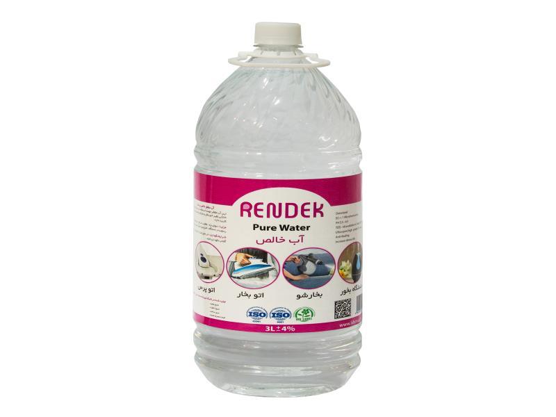 آب خالص مخصوص اتو و بخارشوی ردک حجم ۳ لیتری