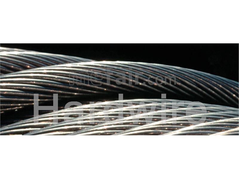 Steel wire rope for tower cranes