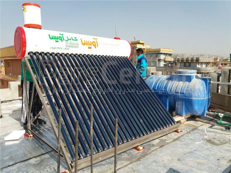 آبگرمکن خورشیدی 300 لیتری فلوتری وکیوم تیوپ