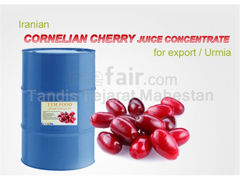 Cornelian Cherry Juice Concentrate, packed in 265 kg metal drums