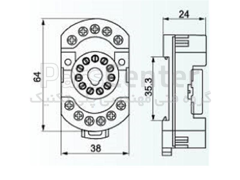 سوکت 11 پایه فیندر مدل 90.23