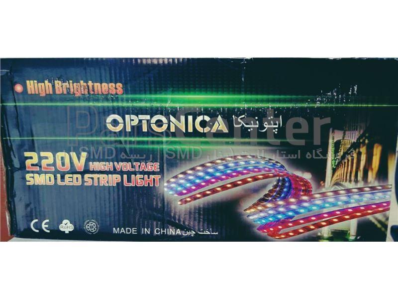 ریسه شلنگی SMD اپتونیکا 5730 دولاین تراکم 120 لامپ