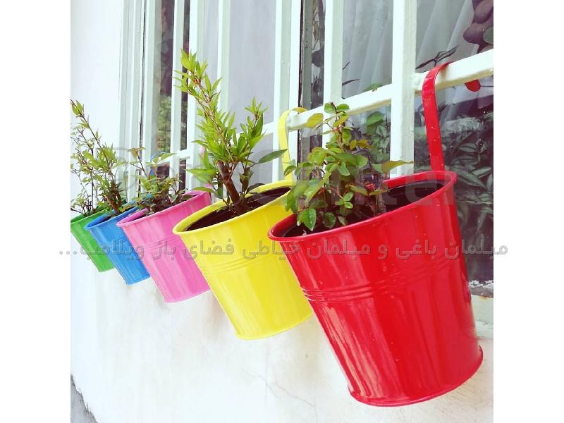 گلدان دسته عصایی رنگی