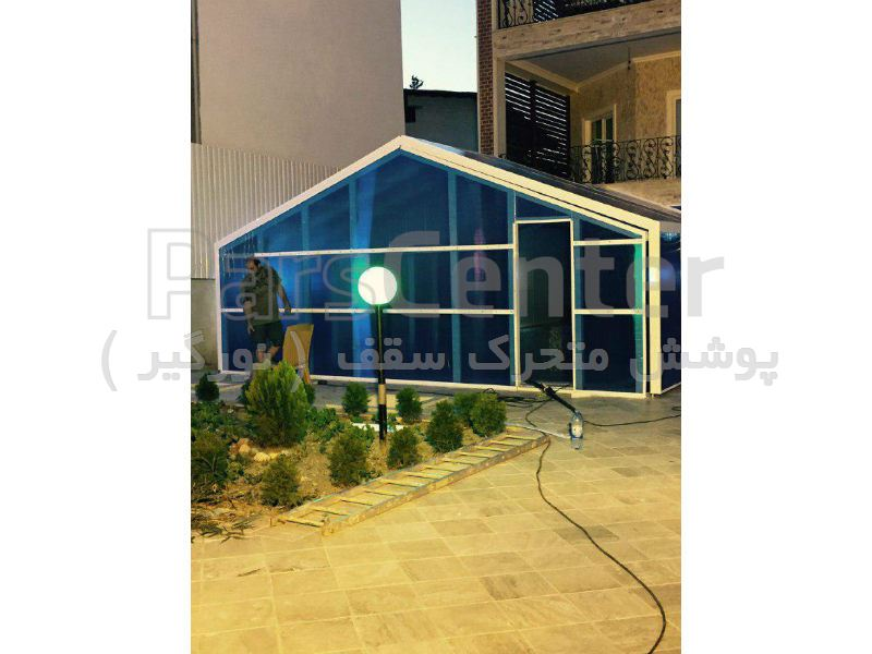 پوشش سقف استخر متحرک - متل قو - مازندران