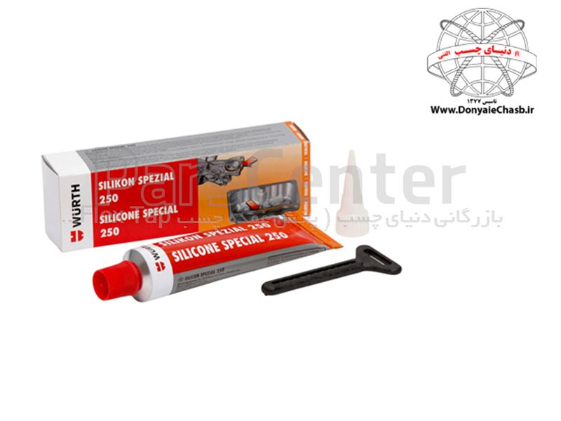 واشر ساز 250 مشکی وورث Wurth Engine Sealing Compound Silicone Special 250 آلمان