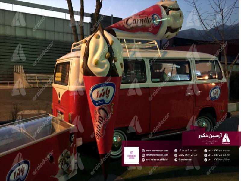 طراحی و ساخت ماکت تبلیغاتی بستنی پاندا