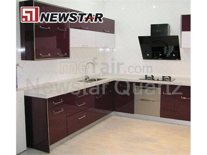 Multicolor Artificial Quartz Stone for Kitchen Countertop