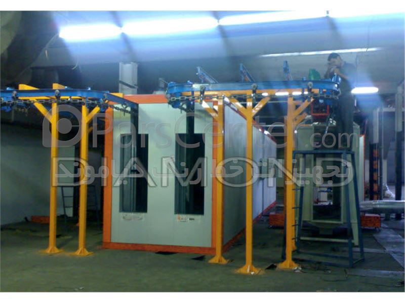نصب کوره استاتیک-کوره رنگ پودری-کوره کانوایر-کوره خشککن-کوره پخت رنگ