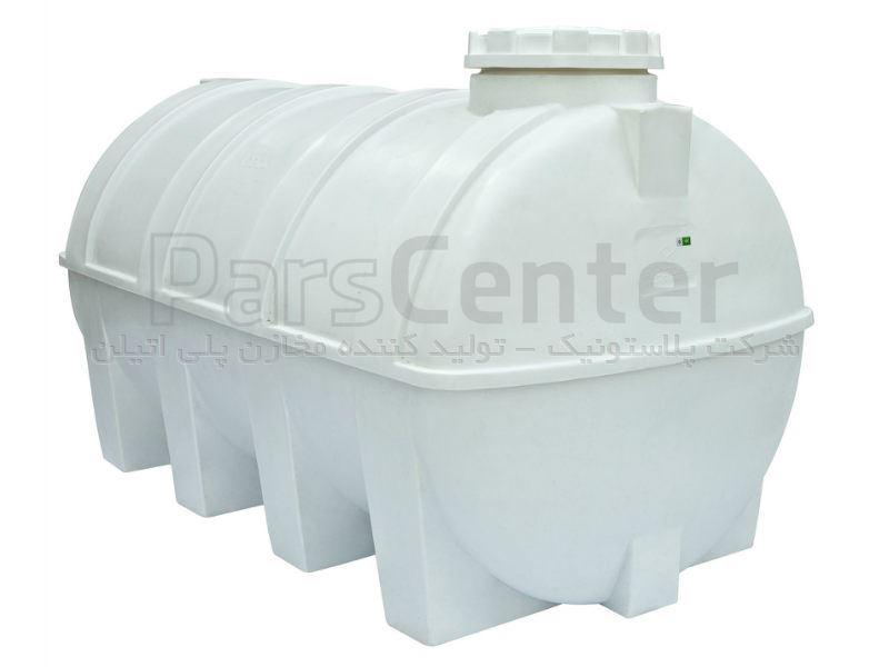 تانکر ذخیره مایعات - مخزن 3000 لیتری افقی تک لایه و سه لایه