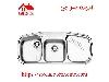 سینک ظرفشویی توکار کد 614NEW استیل البرز