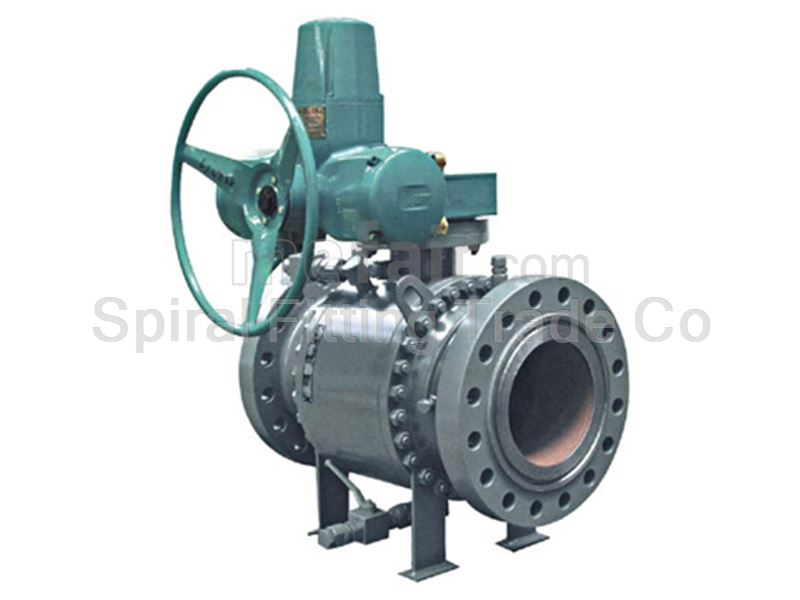 Spiral Fitting Gear Box Steel Ball Valve 1500