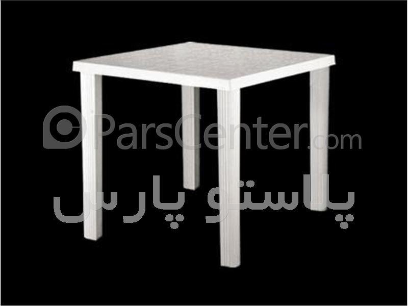 میز پلاستیکی مربع 4 نفره 80*80 کد 101823
