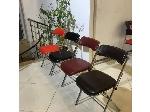 صندلی تاشو فلزی مدل چرمی