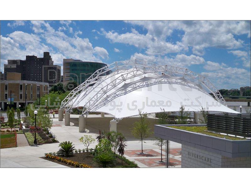 پوشش چادری سقف ورزشگاه-سازه چادری ورزشگاه