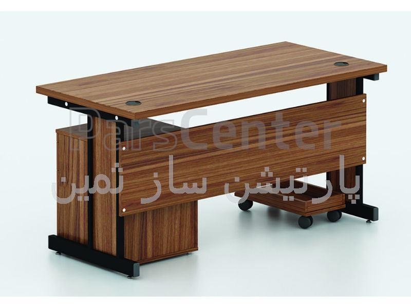 میز کارمندی پایه فلزی ثمین مدل 5713