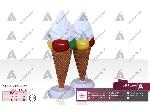 طراحی و ساخت استند رومیزی بستنی قیفی