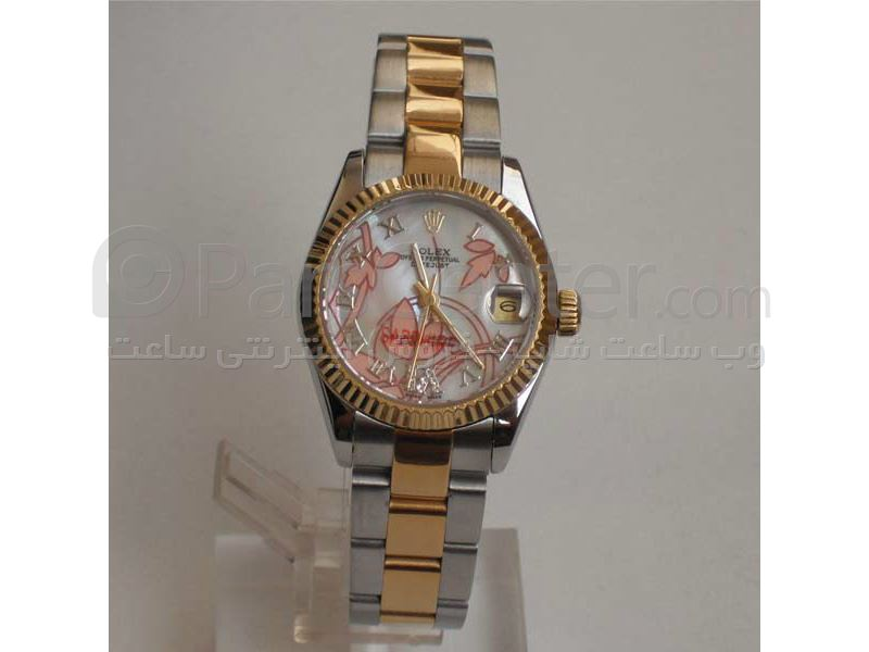 ساعت رولکس high copy مدل  DATEJUST- شیشه ضد خش -بند استیل - صفحه رزگلد