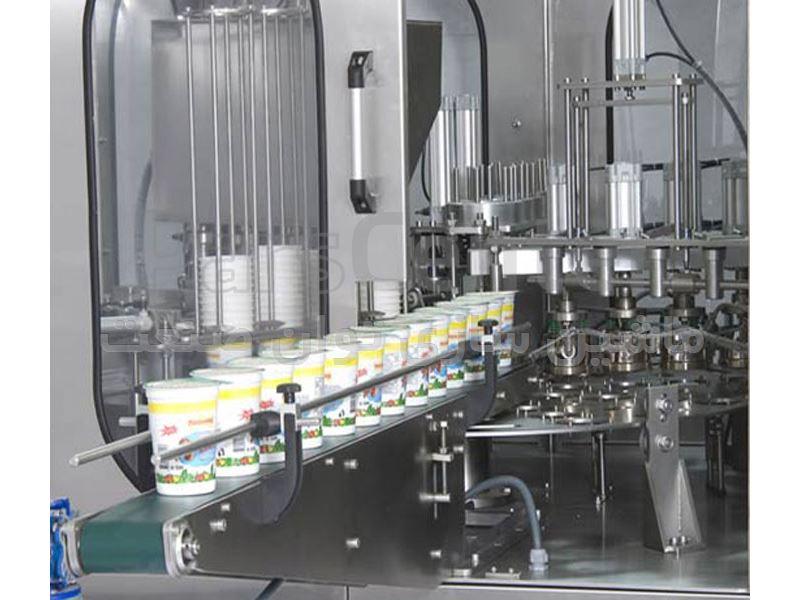 دستگاه پرکن ظروف لیوانی روتاری