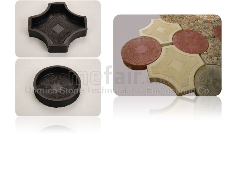 Rubber Molds for Manufacturing artificial stone (paving tiles, mosaic, floor tiles )