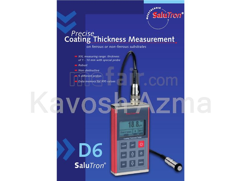 DT-157  CEM, TQC LD0800 , Elcometer  456 ,  Salutron  D6, Elektro Germany Coating thickness gauge for car paint inspection