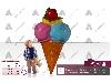 طراحی و ساخت ماکت تبلیغاتی بستنی اسکوپی دیواری