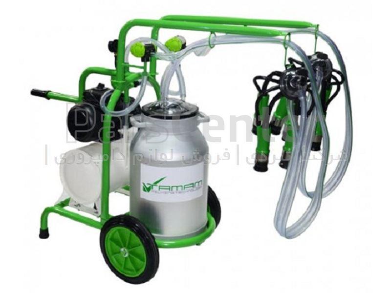 شیردوش سیار گاو دوش ملاستی - تک واحد تک بیدون - سبز